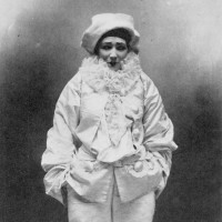 Sarah Bernhardt as Pierrot in Jean Richepin's Pierrot assassin, 1883; photograph by Paul Nadar