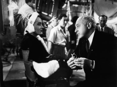 Gloria Swanson and Cecil B. DeMille in Billy Wilder's 1950 film Sunset Boulevard