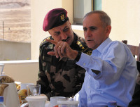 Lieutenant General Keith Dayton (right), the US security coordinator for Israel and the Palestinian Authority, with Brigadier General Munir al-Zoubi, commander of the Palestinian Presidential Guard, the elite force that protects top officials and guests,