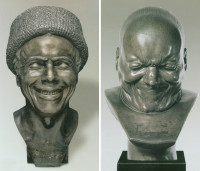 Franz Xaver Messerschmidt: The Artist as He Imagined Himself Laughing, 1777–1781 (left), and An Arch-Rascal, 1771–1783 (right)