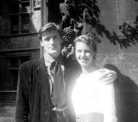 Ted Hughes and Sylvia Plath on their honeymoon, Paris, 1956
