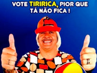 An election ad for Tiririca showing the slogan