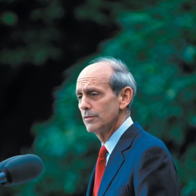 Stephen Breyer shortly after his nomination to the Supreme Court, May 16, 1994