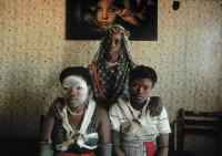 A sangoma, or traditional healer, with her apprentices, Soweto, South Africa, 1981