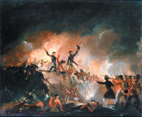 E.C. Watmough: Repulsion of the British at Fort Erie, 15th August 1814, 1840