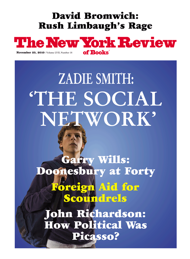 Image of the November 25, 2010 issue cover.