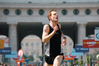 Andreas Lust as a bank-robbing long-distance runner in Benjamin Heisenberg's film <i>The Robber</i>