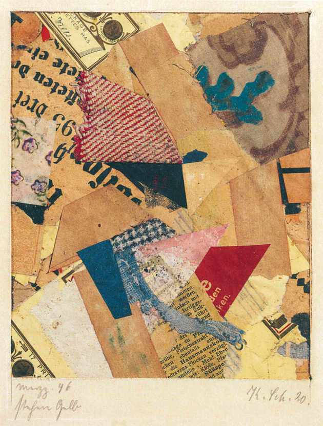Kurt Schwitters: Merzz. 96 Standing Yellow, 6 x 4 3/4 inches, 1920; from the exhibition 'Kurt Schwitters: Color and Collage,' on view at the Menil Collection, Houston, through January 30, 2011. The catalog, edited by Isabel Schulz, has just been published by the museum and Yale University Press. Illustrations (c) 2010 Artists Rights Society (ARS), New York/VG Bild-Kunst, Bonn.