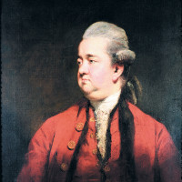The historian Edward Gibbon; painting by Joshua Reynolds, circa 1779