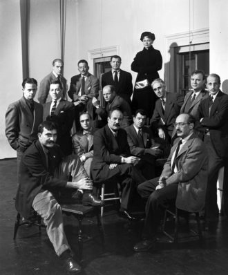Life magazine's portrait of the Abstract Expressionist artists known as 'The Irascibles,' 1951.  Front row: Theodore Stamos, Jimmy Ernst, Barnett Newman, James Brooks, and Mark Rothko; middle row: Richard Pousette-Dart, William Baziotes, Jackson Pollock, Clyfford Still, Robert Motherwell, and Bradley Walker Tomlin; back row: Willem de Kooning, Adolph Gottlieb, Ad Reinhardt, and Hedda Sterne