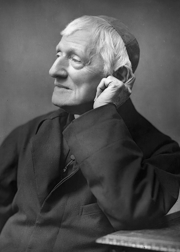 The Victorian theologian Cardinal John Henry Newman, who was beatified by Pope Benedict XVI in September 2010