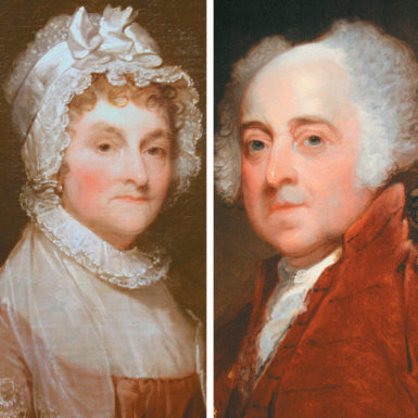 Abigail and John Adams; portraits by Gilbert Stuart, 1800/1815 and circa 1821