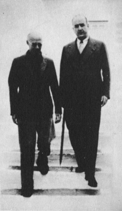 Henry Miller and 'the Colossus' George Katsimbalis, Greece, 1939