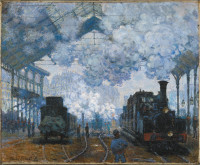 Claude Monet: Gare Saint-Lazare: Arrival of a Train, 1877