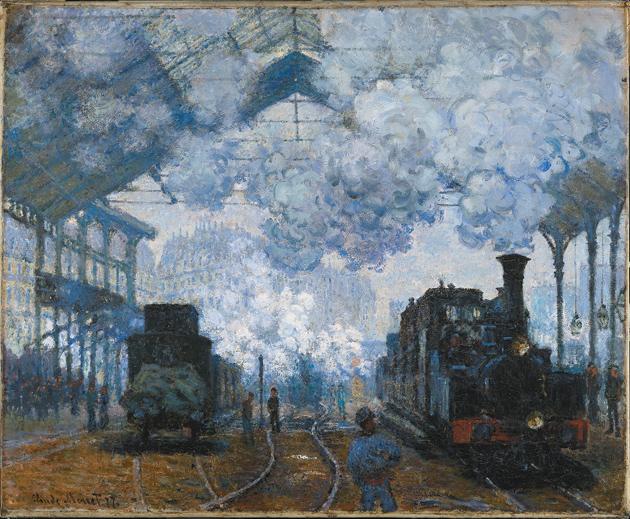 Claude Monet: Gare Saint-Lazare: Arrival of a Train, 1877