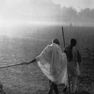 Mahatma Gandhi in Noakhali, East Bengal, 1946