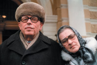 Andrei Sakharov and his wife, Yelena Bonner, Moscow, March 1987