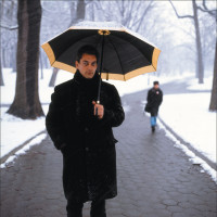 Paul Auster, Prospect Park, Brooklyn, 1987; photograph by Dmitri Kasterine, a selection of whose portraits of writers and artists is on view at the National Portrait Gallery, London, through April 3, 2011