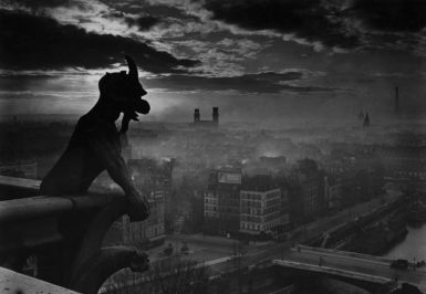 Gargoyle atop Notre Dame; from Yvon's Paris, a collection of postcard views of Paris taken in the early twentieth century by the photographer known as Yvon. The book has been published by Norton, with an introduction by Robert Stevens. The photographs will be on view at Higher Pictures, New York City, from December 16, 2010 to January 29, 2011.