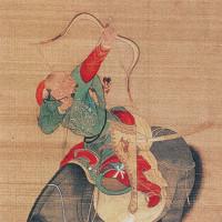 Liu Guandao: Kubilai Khan Hunting (detail of a hanging scroll), 1280