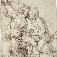 Jan Gossart:  Adam and Eve, 10 3/16 x 8 5/16 inches, c. 1520-25