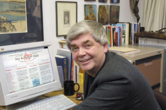 Denis Dutton, the founder of Arts & Letters Daily, in his office at the University of Canterbury, Christchurch, New Zealand, August 3, 2002
