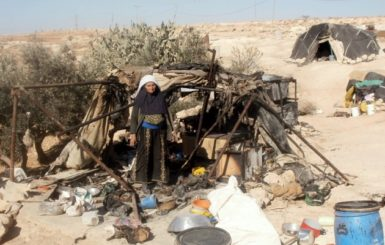 Hajja Sara Nawaja, whose tent in south Hebron was set on fire on December 28, 2010