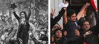 Left: Camille Desmoulins; right: Wael Ghonim