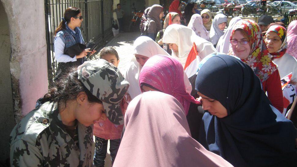 Female soldier, Cairo, February 22.jpg