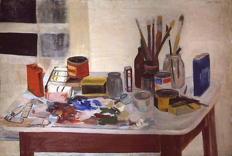 Jane Freilicher: The Painting Table.jpg