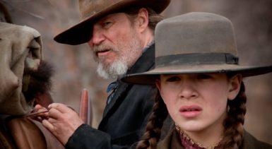 Jeff Bridges as Rooster and Hailee Steinfeld as Mattie in a scene from True Grit (2010)