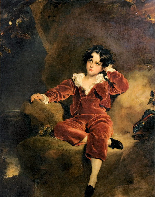 Thomas Lawrence: The Red Boy (Charles William Lambton), 54 x 44 inches, 1825