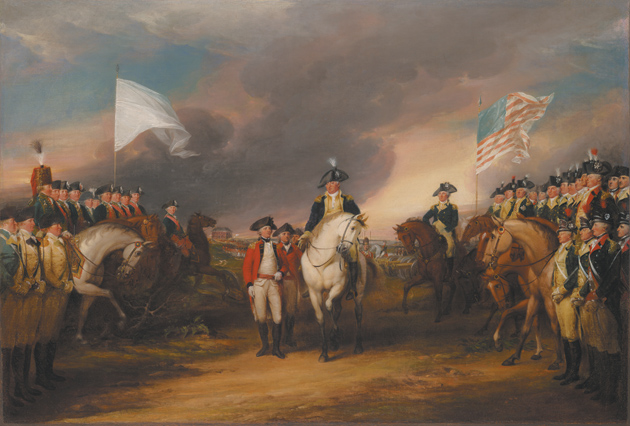 The surrender of Lord Cornwallis at Yorktown, October 19, 1781; painting by John Trumbull