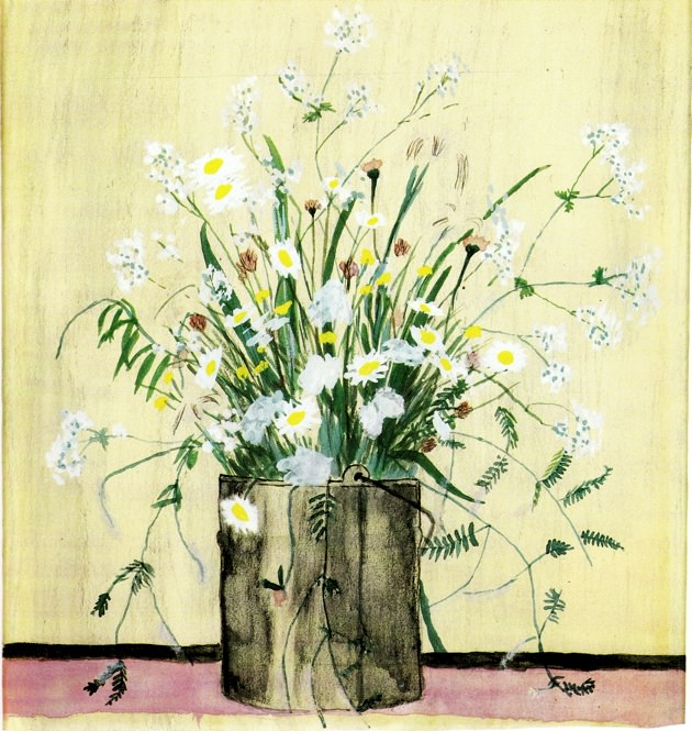 Elizabeth Bishop: Daisies in Paintbucket.jpg