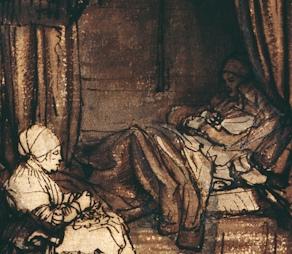 Rembrandt: Interior with Saskia (detail).jpg