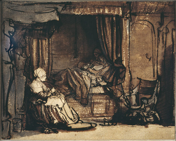 Rembrandt: Interior with Saskia in Bed.jpg