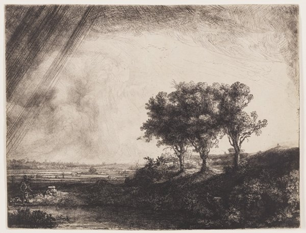Rembrandt: Landscape with Three Trees.jpg