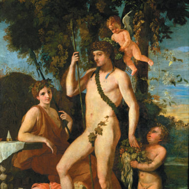 Bacchus/Dionysus; painting by Nicolas Poussin, seventeenth century