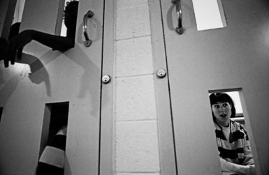 Female inmates locked down in the Maricopa County Jail, Phoenix, Arizona, 1998