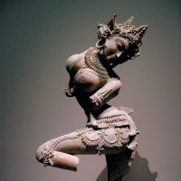 Dancing stone nymph, Uttar Pradesh, India, early twelfth century. In The Tell-Tale Brain V.S. Ramachandran asks about this sculpture, 'Does it stimulate mirror neurons?'