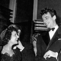 Edith Piaf and Yves Montand after a joint concert, 1945