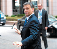 Hungarian Prime Minister Viktor Orbán on his way to an EU summit, Brussels, March 24, 2011