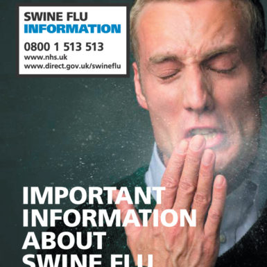 A leaflet ready for issue to the public in the UK in response to growing fears of a global pandemic of swine flu, spring 2009