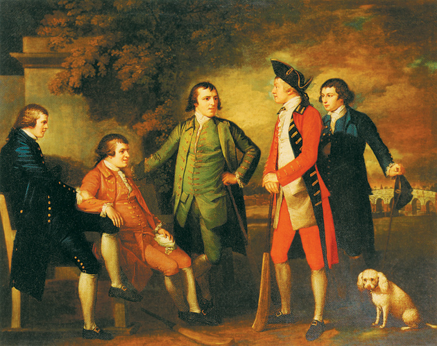Benjamin West: The Cricketers (also known as Ralph Izard and His Friends), 1764