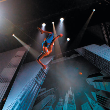 A scene from the Broadway musical Spider-Man: Turn Off the Dark