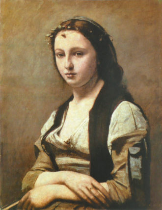 Jean-Baptiste-Camille Corot: La Femme à la perle, circa 1858–1868