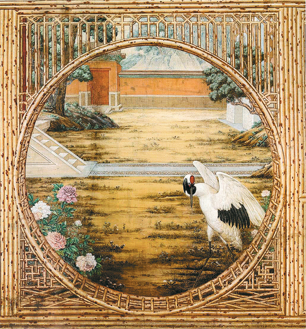 Detail of a mural from Juanqinzhai (Studio of Exhaustion from Diligent Service) in the Qianlong Garden, Forbidden City, by Wang Youxue and assistants, eighteenth century