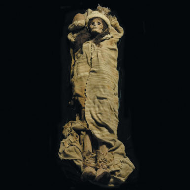 'The Beauty of Xiaohe,' female mummy, circa 1800–1500 BC; excavated from Xiaohe (Little River) Cemetery 5, Charqilik (Ruoqiang) County, Xinjiang Uighur Autonomous Region, China