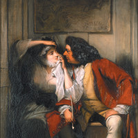 A scene from Tristram Shandy ('Uncle Toby and the Widow Wadman'); painting by Charles Robert Leslie, 1831