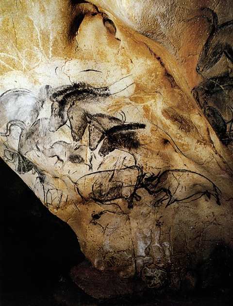 Chauvet: Fighting Rhino & Four Horses.jpg